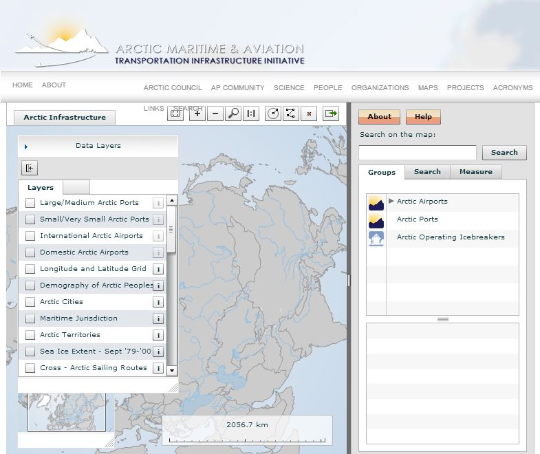 other map services arctic portal the arctic gateway