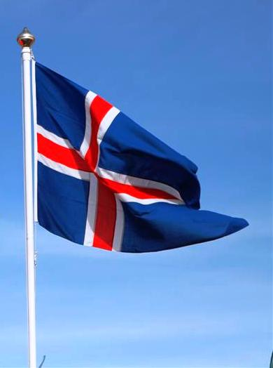 (Photo: H. Hreinsson) Icelandic flag