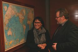 Leona Aglukkaq and Össur at the meeting (Picture: Ministry of Foreign Affairs)