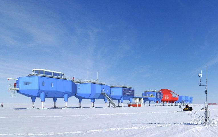 Halley station in Antarctica (Photo: hbarchitects.co.uk)
