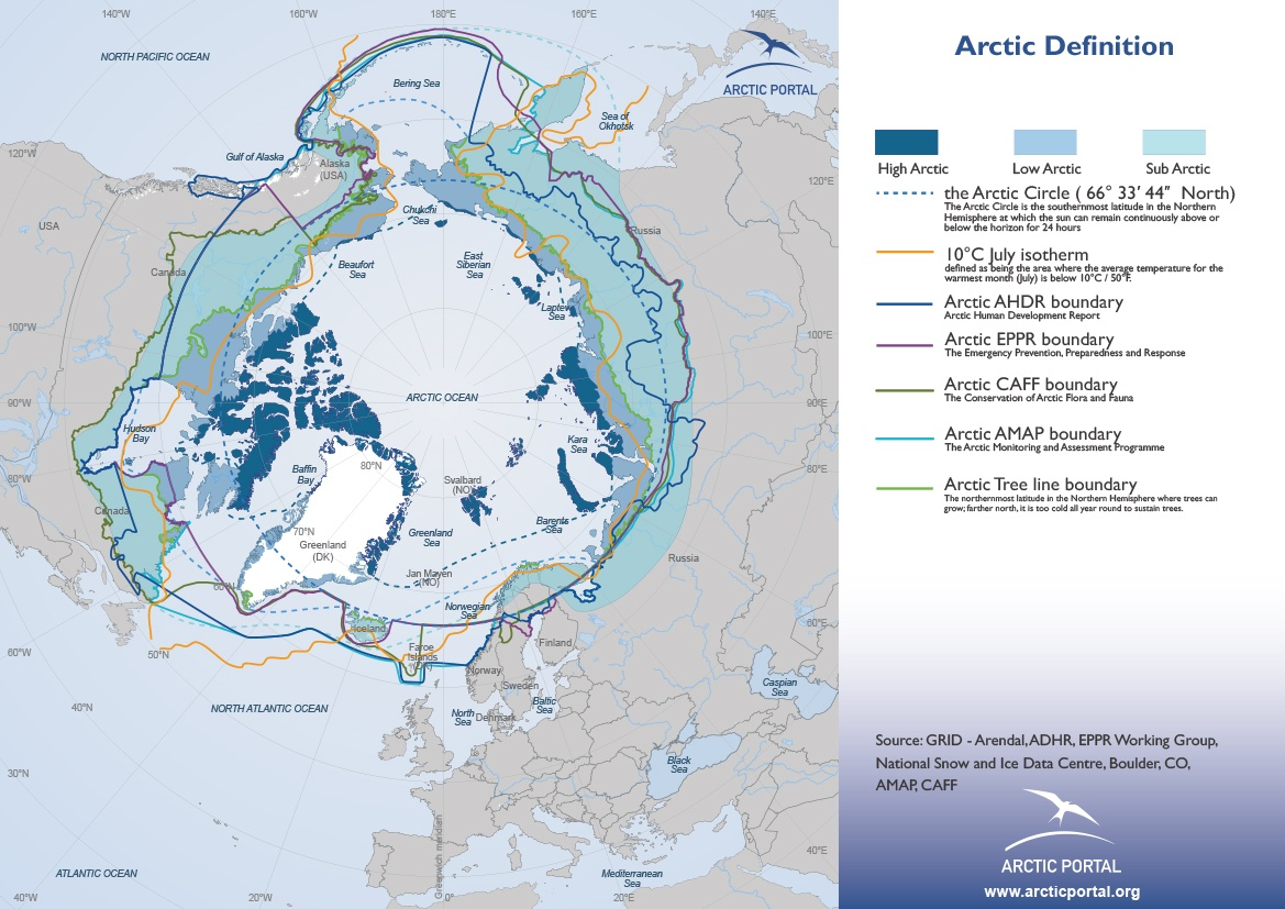 Maps: Arctic Definitions - Arctic Portal - The Arctic Gateway on